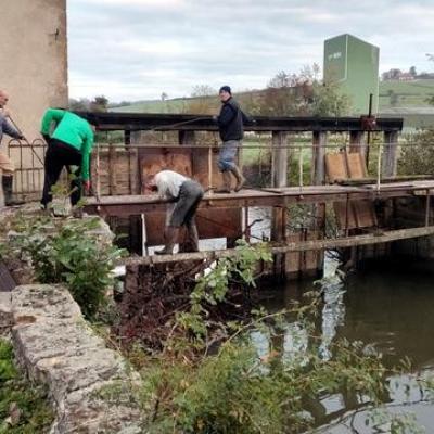 Réfection du pont de St. Didier en Brionnais